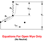 3-Phase Open Wye (No Neutral)