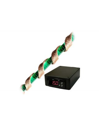 Briskheat High-Temperature Heavy Insulated (BWH) Heating Tape with SDC Digital Temperature Controller J-Type Thermocouple