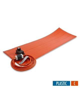 BriskHeat Silicone Rubber Heating Blankets with Controller For Plastic - No PSA - Celsius