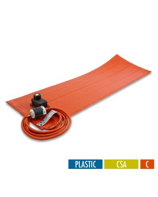 BriskHeat Silicone RUBBER HEATING BLANKETS WITH CONTROLLER - CSA APPROVED FOR PLASTIC - NO PSA - CELSIUS