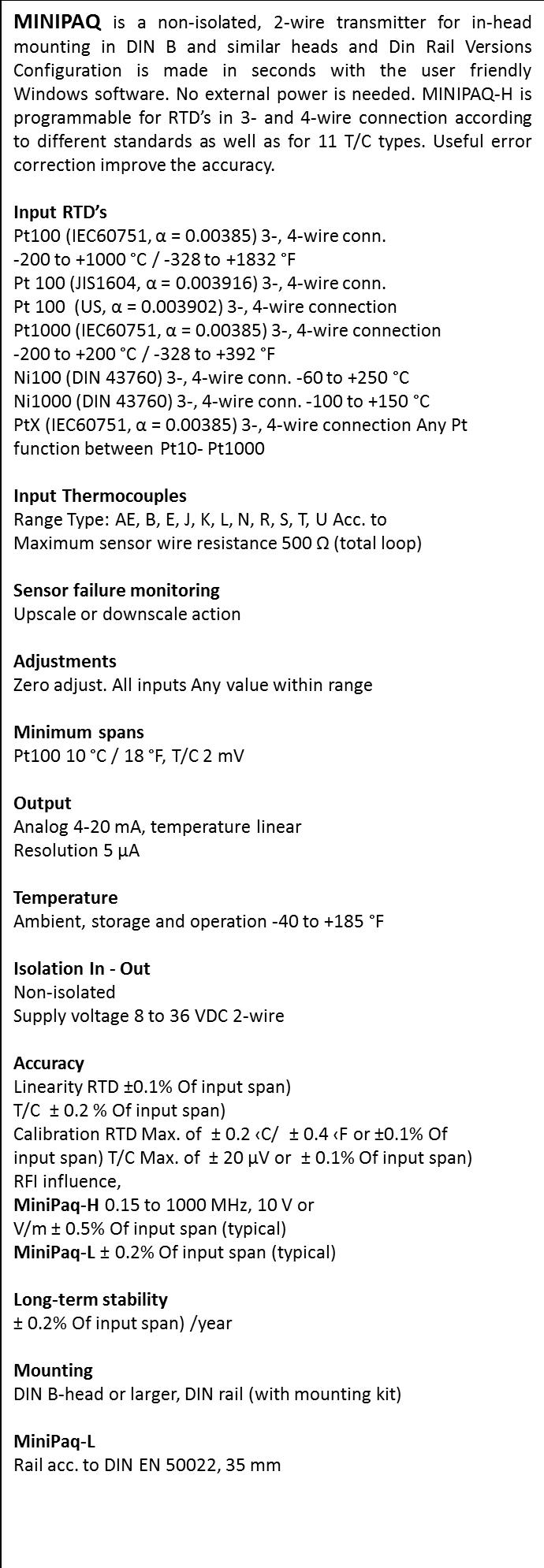 Inor Transmitters-Minipaq
